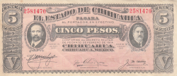 Image #1 of 5 Pesos 1915 (10. IX.)