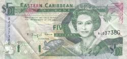 Image #1 of 5 Dolari ND (1993) - G (Grenada)