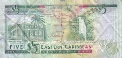 Image #2 of 5 Dolari ND (1993) - G (Grenada)