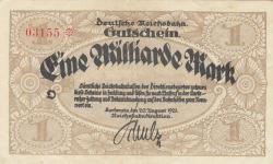 Image #1 of 1 Milliarde (1 000 000 000) Mark 1923 (20. VIII.)