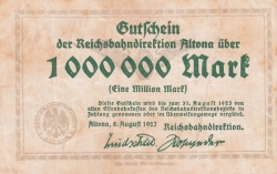 Image #1 of 1 Million (1 000 000) Mark 1923 (8. VIII.)