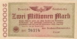 Image #1 of 2 Millionen (2 000 000) Mark 1923 (20. VIII.)
