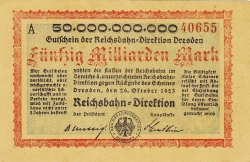 Imaginea #1 a 50 Milliarden (50 000 000 000) Mark 1923 (26. X.)