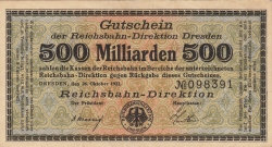 Image #1 of 500 Milliarden (500 000 000 000) Mark 1923 (26. X.)