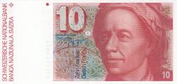 Image #1 of 10 Franken (19)90 - signatures Peter Gerber / Dr. Markus Lusser (61)