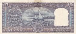 Imaginea #2 a 10 Rupees ND - semnătură L. K. Jha (1967-1970)