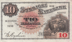 Image #1 of 10 Kronor 1938 - 2