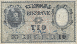 Image #1 of 10 Kronor 1957 - 4