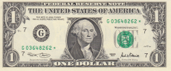 Image #1 of 1 Dollar 2001 - G (replacement note)