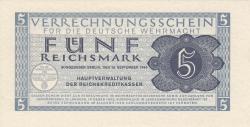 Image #1 of 5 Reichsmark 1944 (15. IX.)