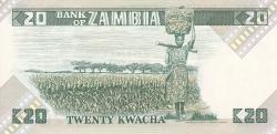 Imaginea #2 a 20 Kwacha ND (1980-1988)