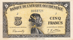 Image #1 of 5 Francs 1942 (14. XII.)
