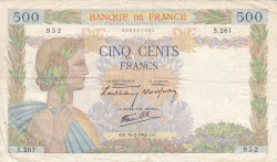 Image #1 of 500 Francs 1940 (16. V.)