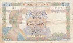 Image #1 of 500 Francs 1940 (31. X.)