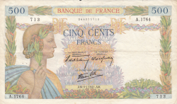 Image #1 of 500 Francs 1941 (9. I.)