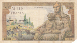 Image #1 of 1000 Francs 1943 (11. II.)