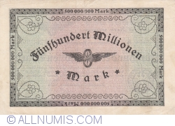 Image #2 of 500 Millionen (500 000 000) Mark 1923 (10. X.)