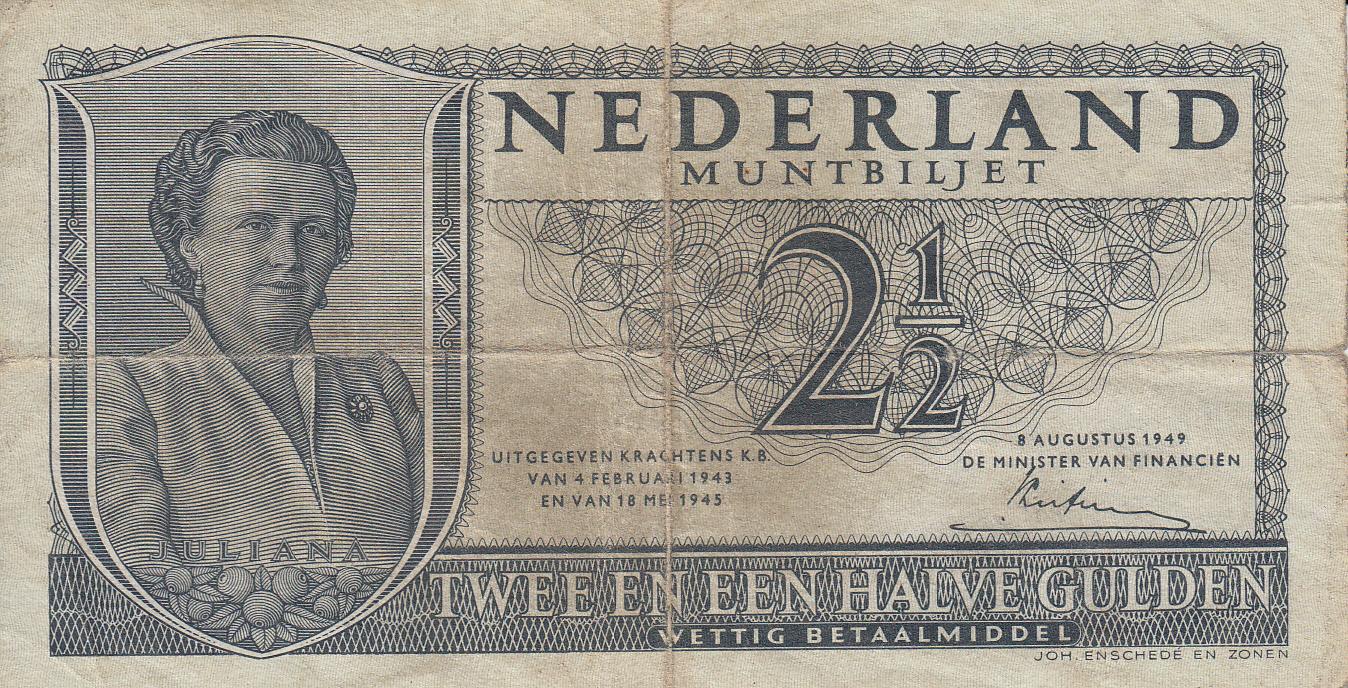 2 1 Gulden 1949 8 VIII