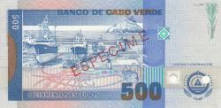 500 Escudos 1992 (23. IV.) - specimen