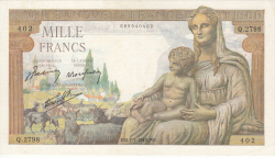 Image #1 of 1000 Francs 1943 (7. I.)