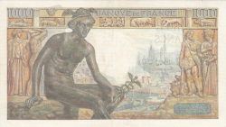 Image #2 of 1000 Francs 1943 (7. I.)