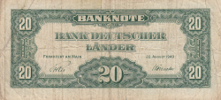 Image #2 of 20 Deutsche Mark 1949 (22. VIII.)