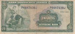 Image #1 of 20 Deutsche Mark 1949 (22. VIII.)