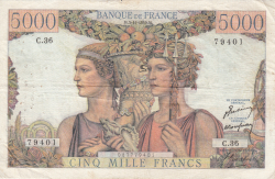 Image #1 of 5000 Francs 1949 (3. XI.)