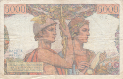 Image #2 of 5000 Francs 1951 (1. II.)