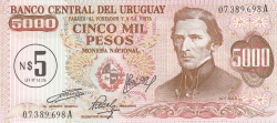 Image #1 of 5 Nuevos Pesos on 5,000 Pesos ND (1975)