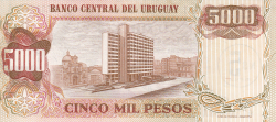 Image #2 of 5 Nuevos Pesos on 5,000 Pesos ND (1975)
