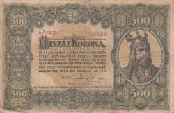 Imaginea #1 a 500 Korona 1920 (1. I.)