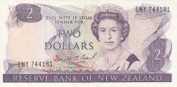 Image #1 of 2 Dollars ND (1989-1992)