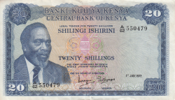 Image #1 of 20 Shillings 1972 (1. VII.)