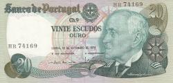 Image #1 of 20 Escudos Ouro 1978 (13. IX.) - signatures Emílio Rui da Veiga Peixoto Vilar / Luís Carlos de Assunção Braz Teixeira