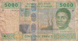 Image #1 of 5000 Francs 2002 - signatures J. F. Mamalepot / Louis Aleka-Rybert