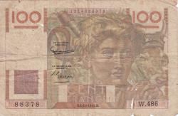 Image #1 of 100 Francs 1952 (2. X.)