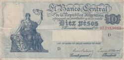 Image #1 of 10 Pesos L.1935 (1936-1946)