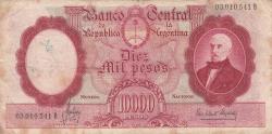 Imaginea #1 a 10 000 Pesos ND (1961-1969) - semnături Alfredo D. Mastropierro / Félix G. Elizalde