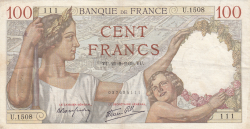 Image #1 of 100 Francs 1939 (21. IX.)