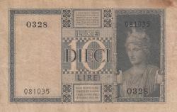 Image #2 of 10 Lire 1938 - XVII