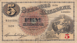 Image #1 of 5 Kronor 1939 - 1