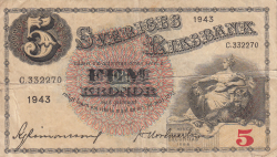 Image #1 of 5 Kronor 1943 - 2