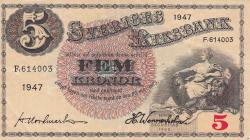 5 Kronor 1947 - 2