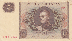 Image #1 of 5 Kronor 1955