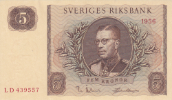 Image #1 of 5 Kronor 1956
