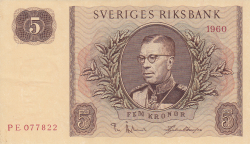 Image #1 of 5 Kronor 1960