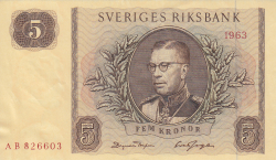 Image #1 of 5 Kronor 1963