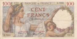 Image #1 of 100 Francs 1940 (22. II.)