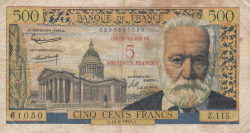 Image #1 of 5 Nouveaux Francs on 500 Francs 1959 (12. II.)